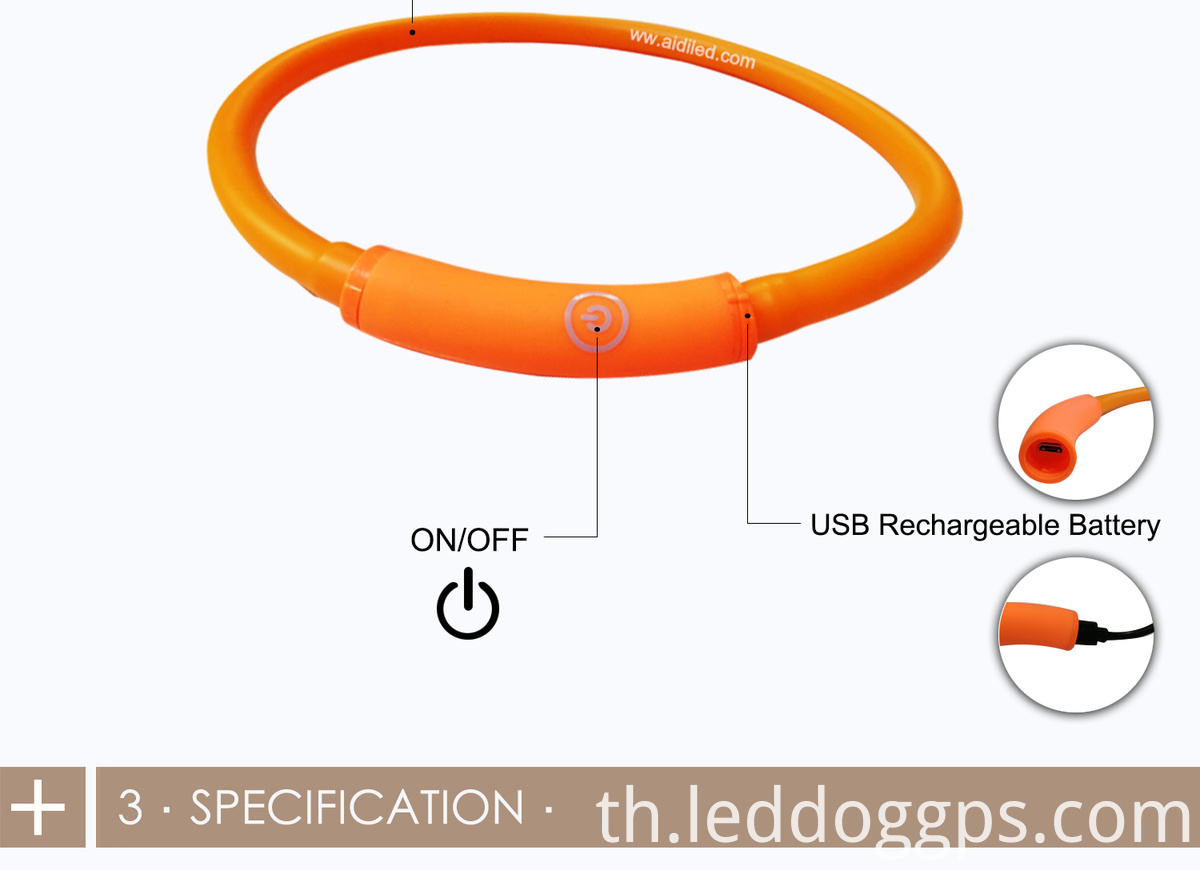 Usb Rechargeable Led Tube Dog Collar
